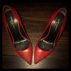 Red YSL Pumps size 39.
